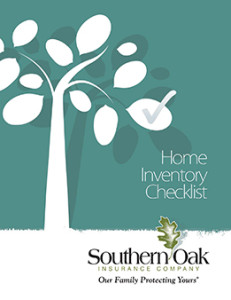 Home Inventory Checklist - Southern Oak Insurance